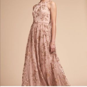 BHLDN Antonia Dress Blush/Gold